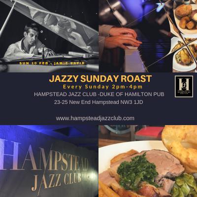 Jazzy Sunday Roasts at Hampstead Jazz Club with Jamie Safir