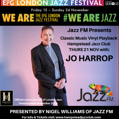 Jazz FM Presents: Classic Vinyl Playback with Jo Harrop