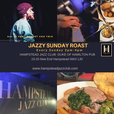 Rupert Cox Trio - Jazzy Sunday Lunch